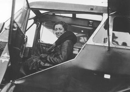 Amy Johnson, British aviator, 8November 1932.