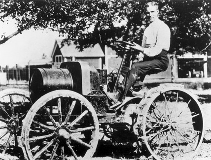 Henry Ford on a tractor, 1908 (NMeM / Daily Herald Archive / Science & Society)