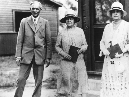 Henry Ford with his wife Clara, c 1920.
