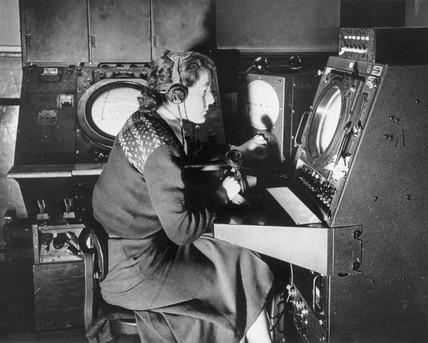 Air traffic control, London, 8 February 1950.