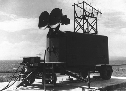 Anti-aircraft radar, Britain, 15 August 1945.