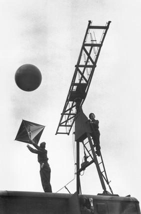 Demonstrating mobile radar equipment, Hyde Park in London, 17 August 1945.