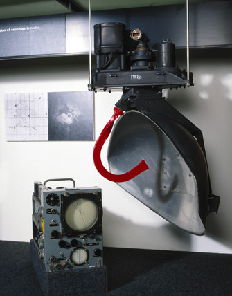 Scanner and indicator for H2S Mk IIc radar installation, c 1950.