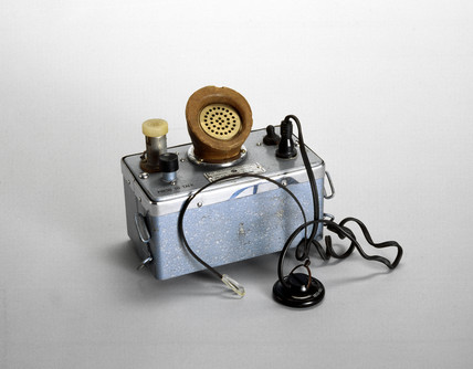 Pye Walkie-phone radio transmitter/receiver, c 1953.