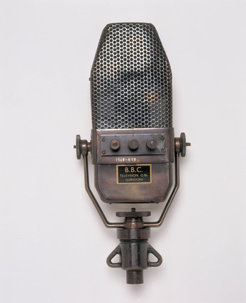 Marconi ribbon microphone, used by the BBC, English, 1934-1959.
