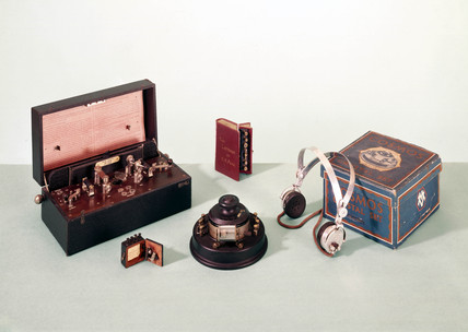 Crystal radio sets, c 1920s.
