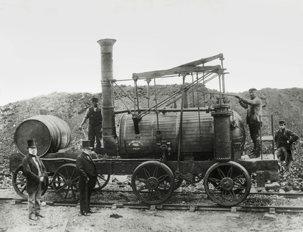 Steam locomotive 'Wylam Dilly', 1862.