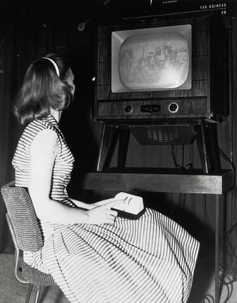 Remote control television, 1956.