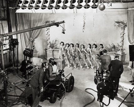Television rehearsals at Alexandra Palace, 1946.