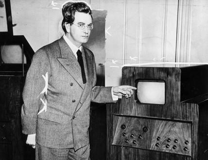 John Logie Baird (1888-1946), the television pioneer, 1935.
