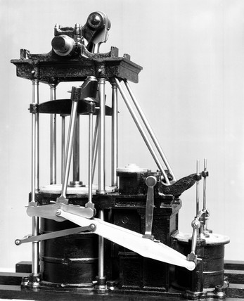 Model of J Seaward's direct acting paddle-engines.