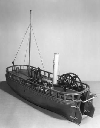 Paddle steamer 'Charlotte Dundas', 1801. Mo
