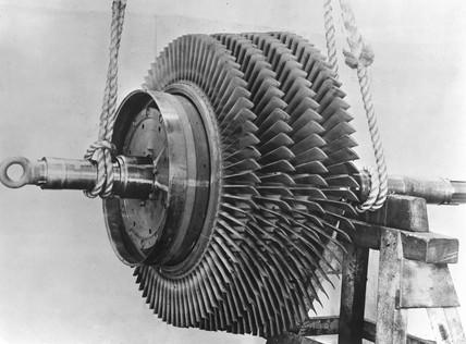 First marine gas turbine, 1947.