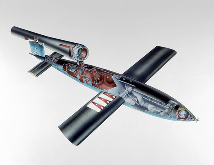 Cutaway view of the V-1 'Flying Bomb', 1944-1945.