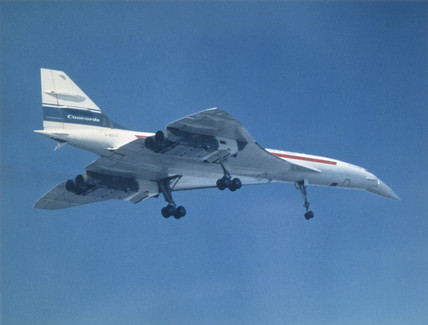 Concorde prototype in flight, c 1972.