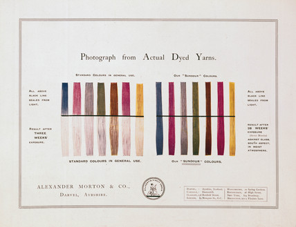Sundour unfadable colours advertisment, early 20th century.