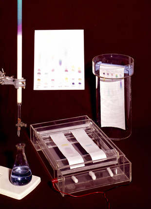 Chromatography apparatus, c 1940s.