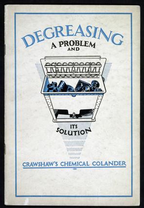 Crawshaw's Chemical Colander, c 1940s.