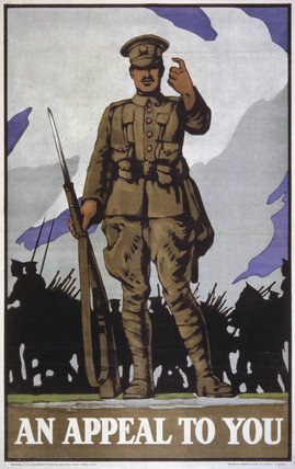 World War I recruiting poster, c 1914-1918.