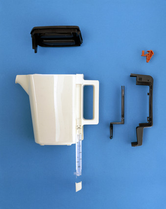 Philips electric kettle components, c 1985.
