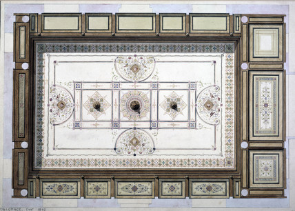The ceiling of the Swindon Station refreshment room, 1842.