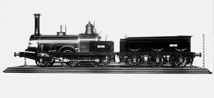 Bombay and Barock railway locomotive and tender, 1856.