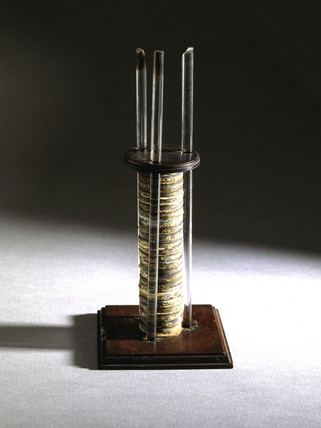The voltaic pile sent to Michael Faraday, 1800.