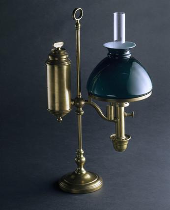 'Student' lamp, c 1830.