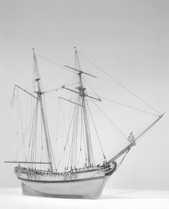 Model of a Naval Schooner, 1760-1780. (Rigg