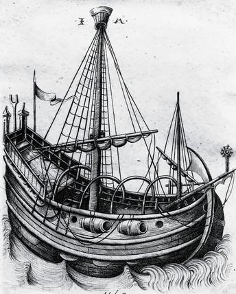 Dutch herring bus, c 1480.