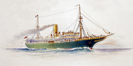 Cunard Line steamship, 1904.