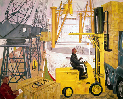 Mechanical handling at the docks, 1963 (Science Museum / Science & Society)