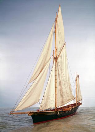 Sailing yacht 'Jullanar', 1875.