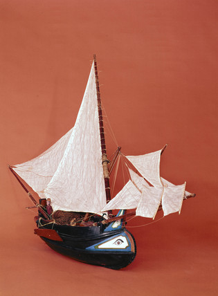 A 'muletta' or Portuguese fishing boat.