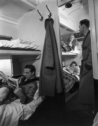 Sleeping carriage, c 1930s.