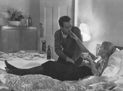 Paul Newman and Joanne Woodward, February 1958.