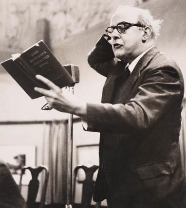 John Betjeman reading his poetry, 1962.