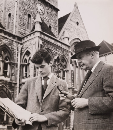 John Betjeman with William Horton, Lewisham Town Hall, 23 August 1961.