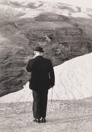John Betjeman in the Holy Land, December 1966.