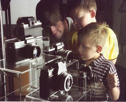 Visitors at the Kodak Gallery of the NMPFT, Bradford, c 1990s.