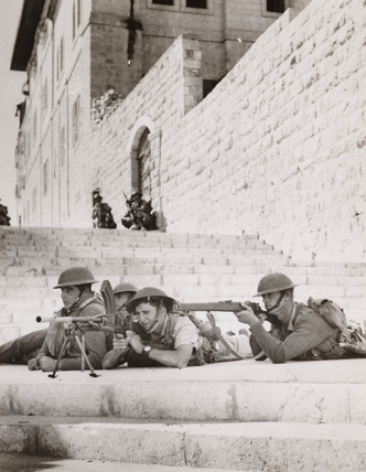 British soldiers, Jerusalem, 1938.