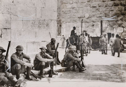 British troops in Palestine, 1936.