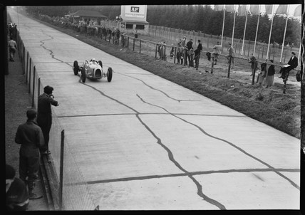 Hans Stuck, Nurburgring, Germany, 1930s.