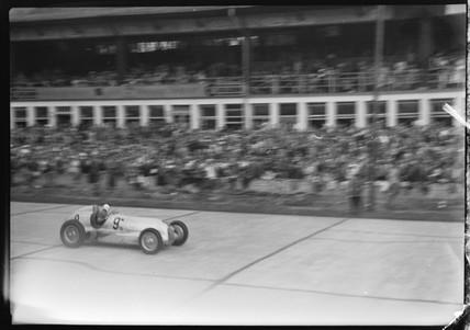 Luigi Fagioli's Mercedes-Benz W25 GP, Nurburgring, Germany, 1930s.