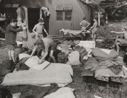 Jewish displaced persons at Poppendorf Camp, Austria, 1947.