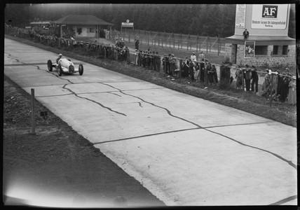 Luigi Fagioli, Nurburgring, Germany, 1930s.