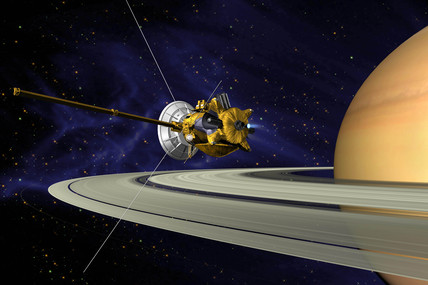 Artists's Conception of Cassini Saturn Orbit Insertion, 2000s.