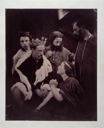 Theatrical scene, c 1870.