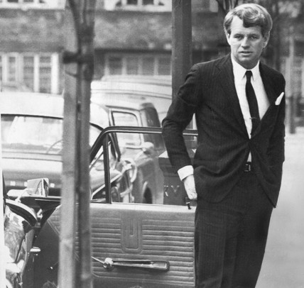 Robert Kennedy in London, January 1967.