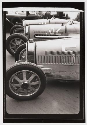 Bugatti racing cars, Berlin, 1930s.